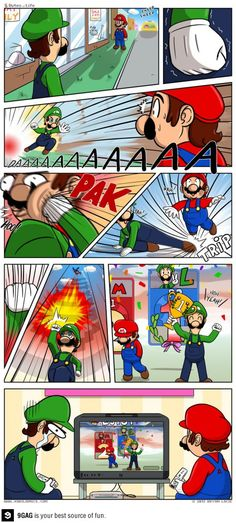 Silly Luigi. Winning is for Mario. #Truth #lols #video #game #Funny #Videogame #Gaming #References #Reality #Real #Life #Joke. #Geek #humor #Funny #Mario #Nintendo #Luigi #Bros #Brothers