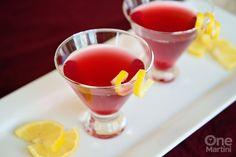 Eve's First Kiss - a pomegranate vanilla martini