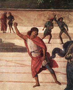 IL PERUGINO - Consegna delle chiavi a San Pietro, particolare - 1481-1482 - affresco - Cappella Sistina, Vaticano