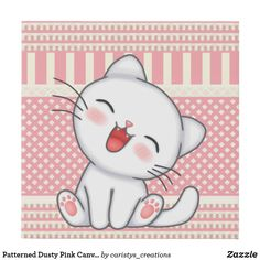Nursery Room, Dusty Pink, Kittens Cutest, Girls Bedroom, Wrapped Canvas, Create Your Own, Hello Kitty, Vibrant, Canvas Prints