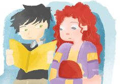 Got bored so I drew Eleanor and Park :3 One of my favorite scenes.