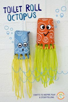 DIY toilet roll jellyfish
