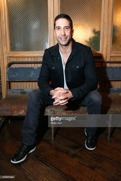 Actor David Schwimmer attends the Meet and Eat event for AMC's new series Feed The Beast, at Kaufman Astoria Studios on May 9, 2016 in New York City.