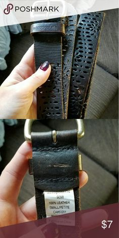Genuine Leather Cut Out Belt - Small Gently used belt from Aeropostale. Aeropostale Accessories Belts