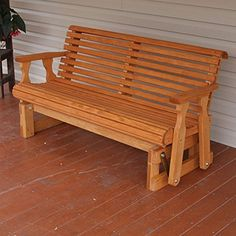 Amish Heavy Duty 800 Lb Roll Back Pressure Treated Porch Glider (4 Foot, Cedar Stain), http://www.amazon.com/dp/B017XYZ5VE/ref=cm_sw_r_pi_awdm_d4juxb0R0SGV3