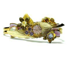 Vintage Altered Art Collage Cuff Bracelet by LisamariesPiece