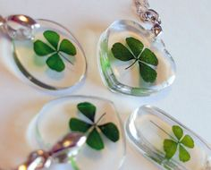 Real Four Leaf Clover Necklaces - Genuine hand-picked 4 leaf clover jewelry found with luck and made with love. Resin Jewelry, Beaded Jewelry, Jewlery, Four Leaf Clover Necklace, Magical Jewelry, Four Leaves, Green Theme, Diy Resin Crafts, Friends Are Like