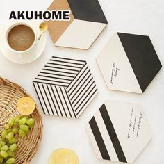 Table Decoration & Accessories Type: Mats & Pads Style: Europe Feature: Stocked,Eco-Friendly Model Number: Brand Name: AKUHOME Shape: Irregular Material: Wood Handmade Home Decor, Diy Home Decor, Room Decor, Pot Mason Diy, Cork Wood, Tea Coaster, Coaster Design, Coaster Furniture, Diy And Crafts