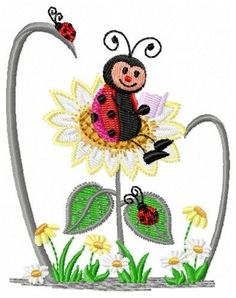 BORBOLETAS & JOANINHAS E ETC. Machine Embroidery Patterns, Embroidery Designs, Ladybug Picnic, Lady Bugs, Art Activities, Fonts, Butterfly, Crafty, Canvas
