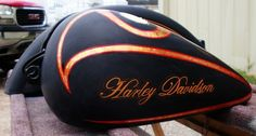 Harley Davidson Motorcycle Tank Paint