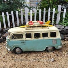 Ready your fairies for an awesome getaway trip with this beach bus! This magical beach bus can fly to any fairy beach. Fairy Garden Accessories, Beach Accessories, Beach Fairy Garden, Garden Fun, Balcony Garden, Miniature Fairy Gardens, Beach Fun, Beach Ideas, Beach Trip