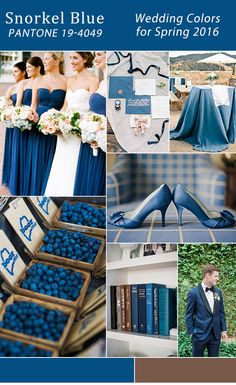 modern rustic snorkel blue wedding color ideas for spring 2016 trends