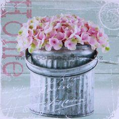 Obraz na plátně Hortenzie   Postershop.cz Glass Vase, Home Decor, Decoration Home, Room Decor, Home Interior Design, Home Decoration, Interior Design