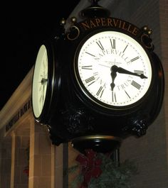 Naperville Bank and Trust clock Naperville Illinois, My Town, Holiday Lights, Clocks, Appreciation, Trust, Bucket, Business