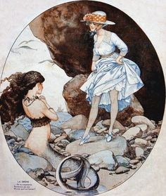 Vintage Lesbian, Lesbian Art, Gay Art, Vintage Mermaid, Mermaid Art, Mermaid Shoes, Mermaid Paintings, Mermaid Illustration, Illustration Art