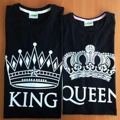 King and Quee Couples Tshirt. http://www.etasarla.com/364-king-and-queen-kisa-kol-siyah-sevgili-tisortleri.html