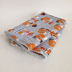 Foxy Grey 2 Pack Burp Cloths #burpcloth #newproduct #baby #children #ecofriendly #burprags #maxwell_designs