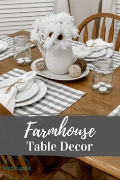 Our Farmhouse Table Decor is sure to make a statement in your dining area. Check out all the different styles of placemats and table runners. You are sure to find something you love!   #farmhousedecor #farmhousetable #placemats #tablerunner Farmhouse Placemats, White Placemats, Farmhouse Table Decor, Farmhouse Interior, Placemat Sets, Dining Room Design, Dining Room Table, Dining Area, Trendy Home Decor