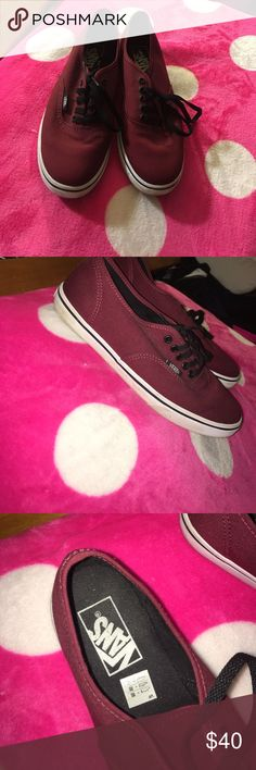 LIKE NEW MAROON VANS!!!!!! Size 7 maroon vans! Like new! Only wore once to a concert and have been sitting in my closet ever since! Vans Shoes Sneakers
