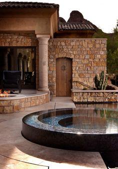 Semi raised hot tub!