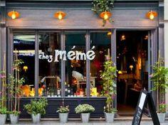 Chez Mémé, French restaurant, 124 rue Saint Denis 75002 Paris Plus Boutiques, Deco Cafe, Resto Paris, French Cafe, Paris Restaurants, Cafe Shop, Paris City, Shop Fronts, Restaurants