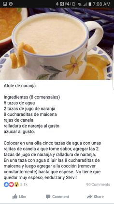 Mexican Atole Recipe, Mexican Food Recipes, Ayurvedic Recipes, Tamales, Comida Latina, Winter Drinks, Christmas Drinks, Camping Meals, Yummy Drinks