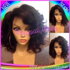 Queen Hair Product Wavy Short Full Lace Human Hair Wigs Glueless Bob Lace Front Wig With Baby Hair Bleached Knot For Black Women