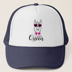 Cute and Funny Llama Queen Cap Birthday Gifts For Her, Birthday Party Themes, Funny Gifts For Her, Llama Gifts, Llama Birthday, Funny Llama, Personalized Note Cards, Custom Hats, Bridal Gifts