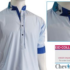 Chevin Shirley Eid Men Kurta Shalwar are trendy and stylish shalwar kameez for t. - Chevin Shirley Eid Men Kurta Shalwar are trendy and stylish shalwar kameez for this festive occasio - Punjabi Kurta Pajama Men, Kurta Men, Gents Kurta Design, Boys Kurta Design, Terno Casual, Gents Suits, Mens Shalwar Kameez, Shirt Collar Styles, Kurta Style