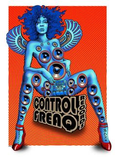 Erykah Badu Control Freaq poster by Emek