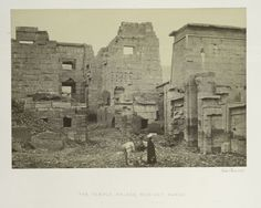 The Temple Palace, Medinet Haboo From New York Public Library Digital Collections.