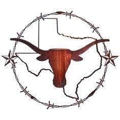 Texas Star Logo | 19 Inch Texas Longhorn Wall Art - 809345, Art & Wall Decor at ...