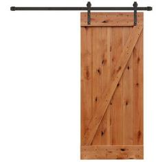 Pacific Entries 36 in. x 84 in. Rustic Unfinished Plank Knotty Alder Barn Door Kit with Oil Rubbed Bronze Sliding Door Hardware Kit UA3100-3684 at The Home Depot - Mobile