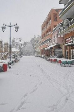 Snowy.. Square Areos - Tripoli, Arcadia, Greece Arcadia Greece, Corinth Canal, Snowy Pictures, Travel Memories, Winter Scenes, Greece Travel, Capital City, Continents, Athens