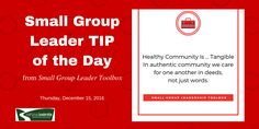 TIP of the Day from #SGLToolbox: Care in tangible ways! https://smallgroupleadership.com/product/small-group-leader-toolbox/ … #SmallGroup #Leader #SGLeadership