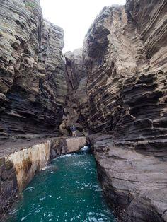 Yongmeori Cliff, Yongmeori Beach, Jeju Island, South Korea.