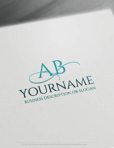 Create a logo Free -Free Logo Maker - Initials ABC Logo Templates Ready madeOnline Initials logo template Decorated with an imageof a Luxury lineand your Alphabet. This professional ABClogos excellent for branding management, Business Consulting, Accountant, notary, lawyer and law firm, Jewelry store, Beauty Salon, Spa, fashion designeretc.  How to design your logo online? 1- Customize This
