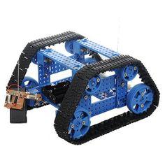 DIY Trapezoidal Tracked Smart Car Kit With Remote Control Robot Toy Robot Kits, Diy Robot, Smart Robot, Smart Car, E Book Reader, Arduino, Gadgets, 3d Printer Supplies, Kit Cars