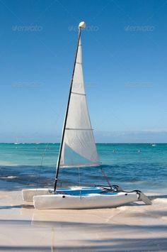 Catamaran at a Bavaro beach at Dominicana