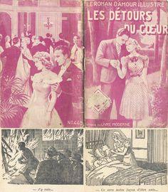 R. Houy - Mary Lysane, Les détours du cœur, Le Livre Moderne (Nom de Ferenczi sous l'Occupation) Le Roman d'Amour Illustré n°445, 32 pages, deux illustrations intérieures, 5 août 1941