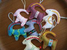 Yule Goat ornaments from felt