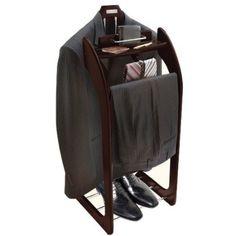 Amazon.com: Smartek USA Espresso Clothes Valet Stand: Home & Kitchen
