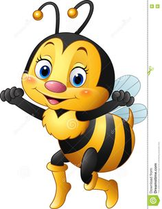 Cartoon Happy Bee - Download From Over 62 Million High Quality Stock Photos, Images, Vectors. Sign up for FREE today. Image: 76884772