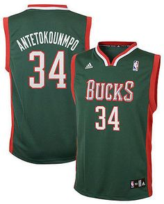 Adidas NBA MILWAUKEE BUCKS Giannis Antetokounmpo Youth Swingman Jersey Nba  T Shirts af9b053cb