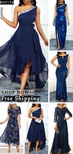 Shop blue Dresses online,Dresses with cheap wholesale price,shipping to worldwide Classy Outfits, Pretty Outfits, Pretty Dresses, Beautiful Dresses, Blue Dress Outfits, Dress Up, Homecoming Dresses, Bridesmaid Dresses, Prom