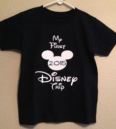 Kids first disney trip my first disney trip Shirts For Teens Boys, Disney Shirts For Family, Disney Family, Shirts For Girls, Minnie Mouse Shirts, Mickey Shirt, Autumn T Shirts, Travel Shirts, Disney Trips