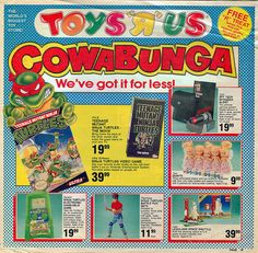 22 Picture About Toys 'R' Us Shop, You Might Forget - vintagetopia Toys R Us Ad, 90s Toys, Retro Videos, Retro Video Games, Childhood Toys, Childhood Memories, Ninja Turtle Videos, Turtle Games, Toy R