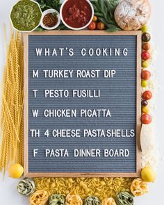 Who else is ready for Pasta Week? 😍In addition to sharing pasta dishes with you each day, here's what I have planned for my family's dinners for the week.   Click through to the post for links to each recipe!