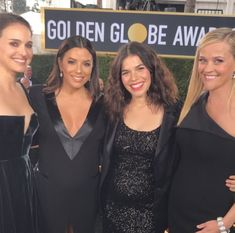 Natalie Portman, Eva Longoria, America Ferrera, Reese Witherspoon - The Best Behind-the-Scenes Photos From the 2018 Golden Globes - Photos