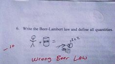 This is the only beer law I studied: | 36 Test Answers That Are Too Clever For Their Own Good